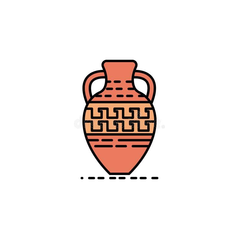 pot, poterie, décoration, icône grecque Élément d'icône de couleur d'histoire pour des applis mobiles de concept et de Web Pot de illustration de vecteur