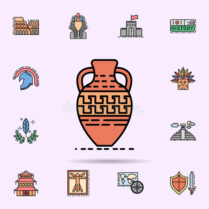 pot, pottery, decoration, Greek icon. Universal set of history for website design and development, app development royalty free illustration