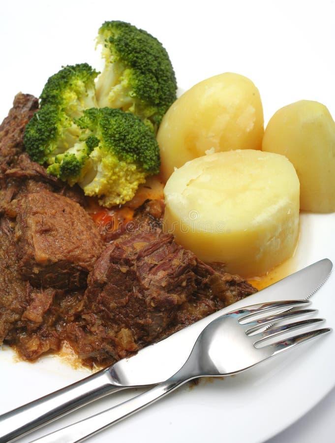 Free Pot Roast Stewed Steak Dinner Stock Images - 15486004