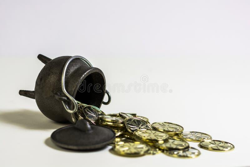 Pot Run Over royalty free stock photo