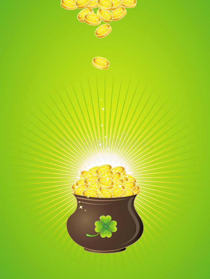 Pot for St. Patrick's Day stock illustration