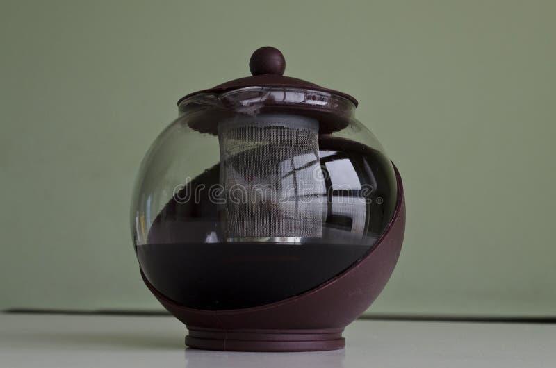 A pot of tea. Or a jug of tea stock image