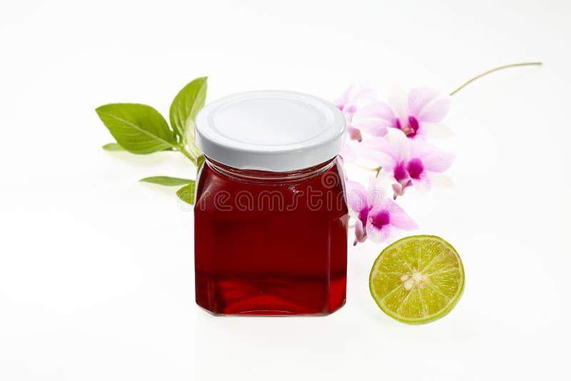 Pot van honing stock fotografie