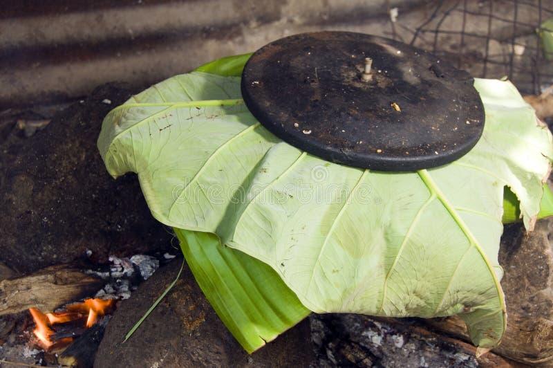 Pot van voedsel openlucht kokend Nicaragua royalty-vrije stock foto's