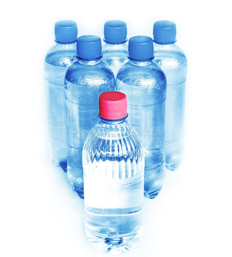 Potable water. Plastic bottles of potable water royalty free stock images