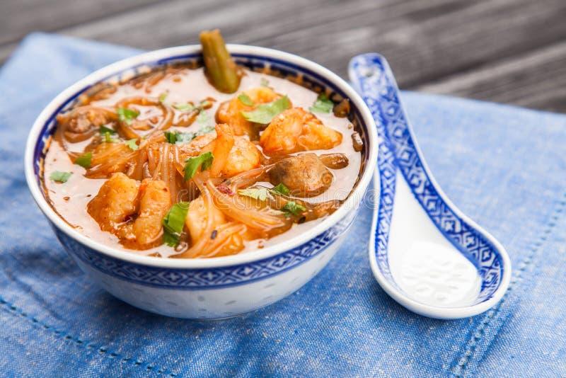 Potage asiatique de crevette photos libres de droits