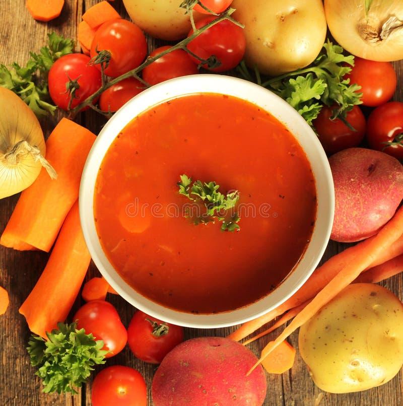 Potage aux légumes photo stock