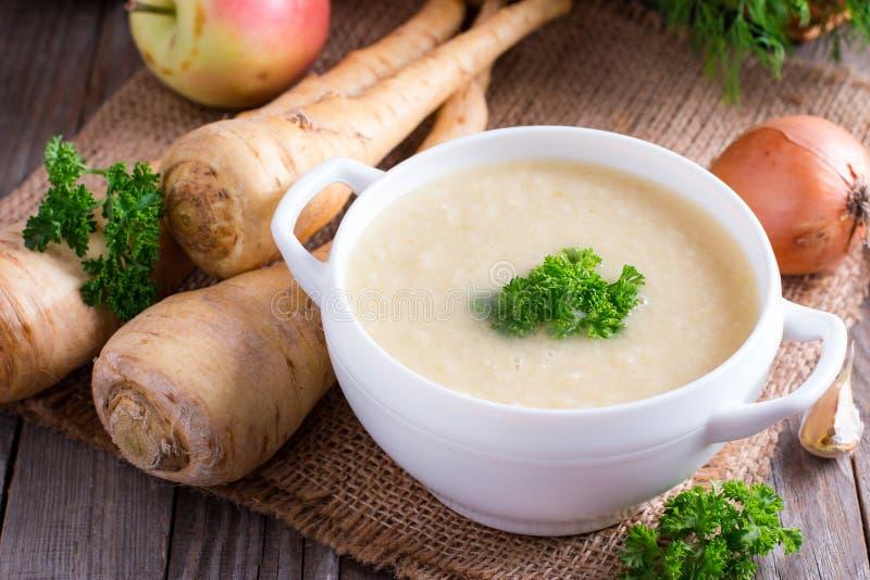Potage aux légumes crème de bébé photographie stock