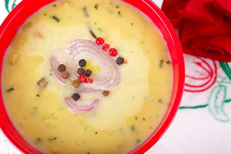 Soupe à champignons photographie stock