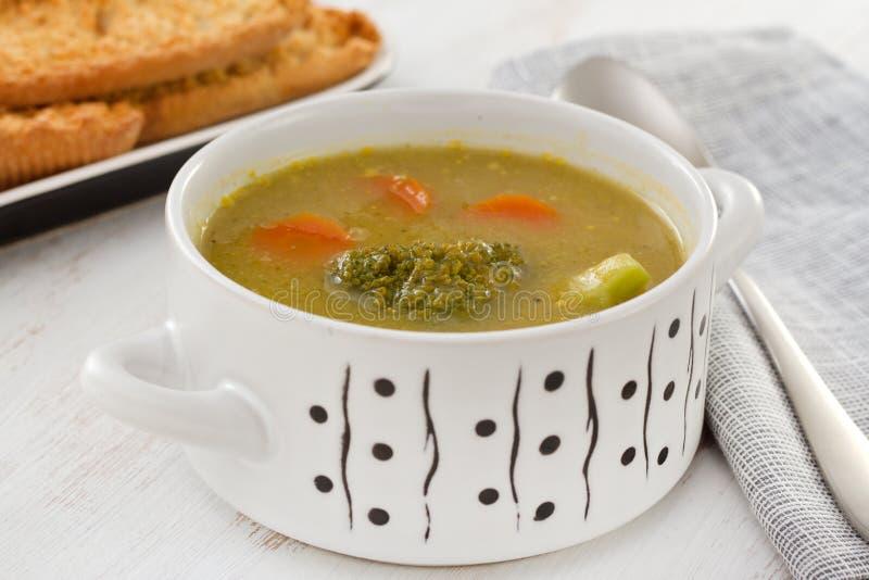 Potage aux légumes de broccoli photo stock