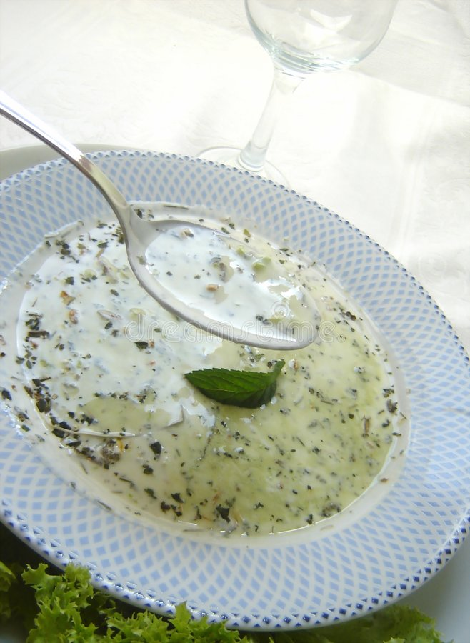 Potage crème photo libre de droits