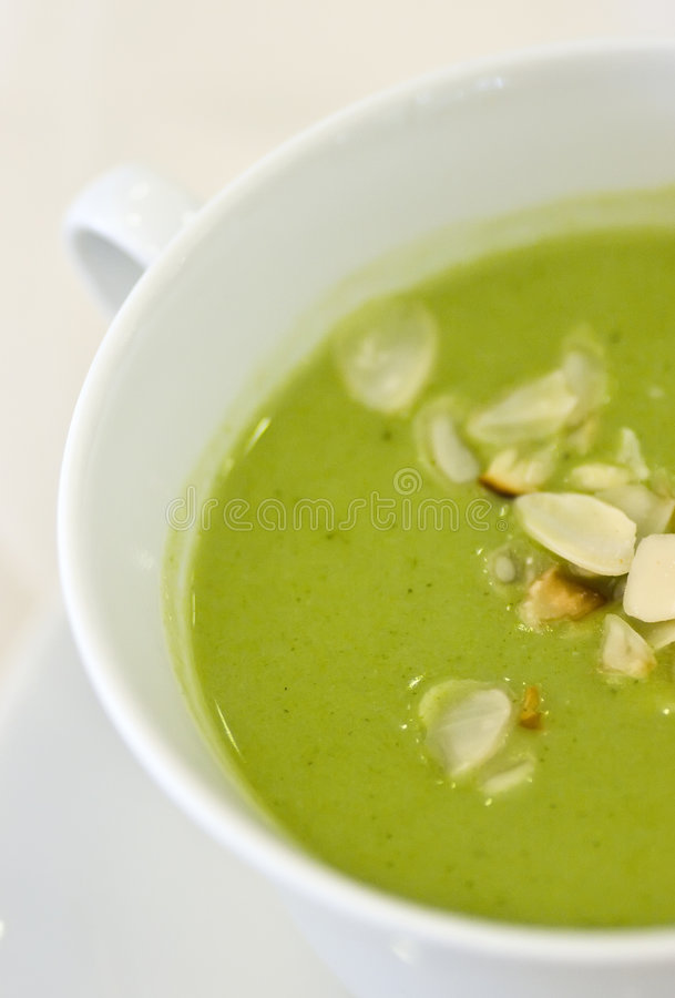 Potage de broccoli photo libre de droits