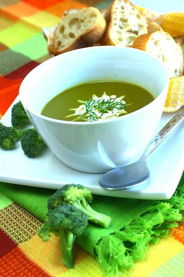 Potage de broccoli   photos stock