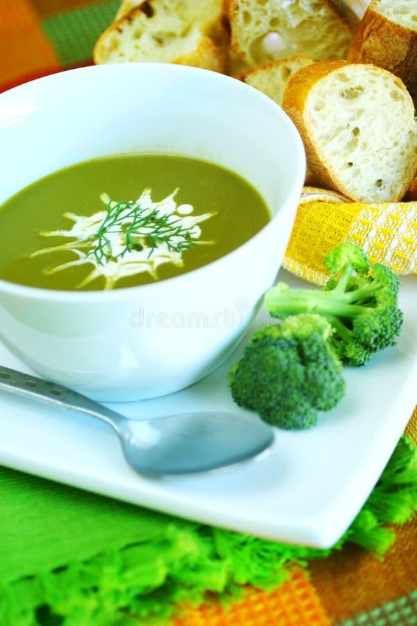 Potage de broccoli photo stock