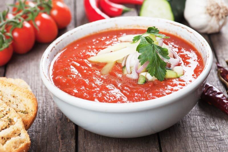 Potage de Gazpacho images stock