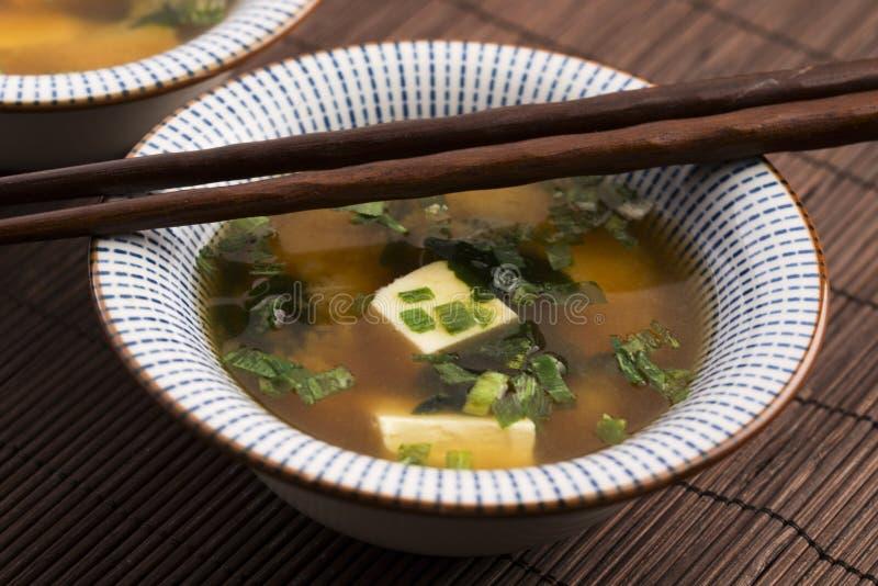 Potage de miso japonais photo stock
