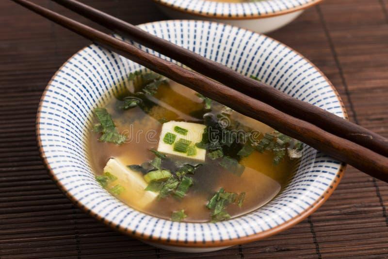 Potage de miso japonais photographie stock libre de droits