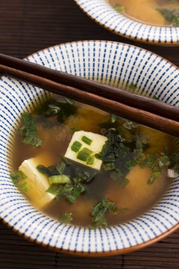 Potage de miso japonais photos libres de droits