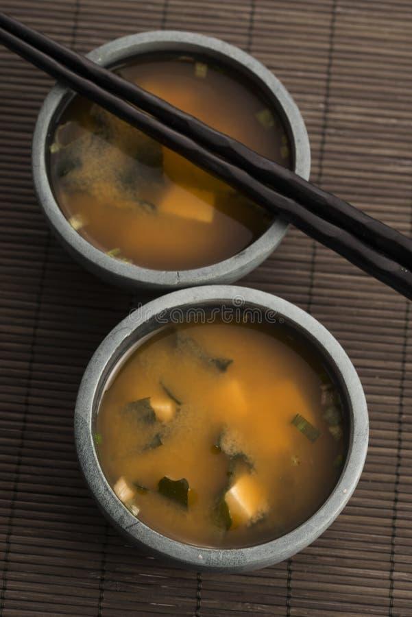 Potage de miso japonais photo libre de droits