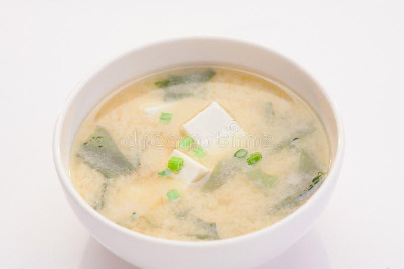 Potage de miso japonais images stock