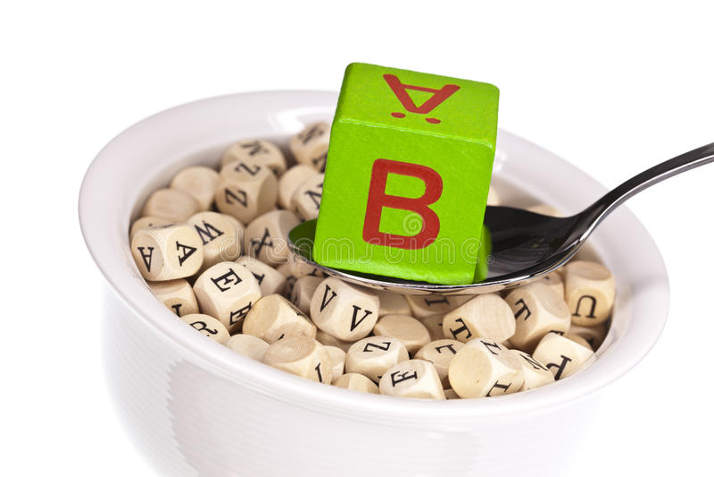 Potage Vitamine-riche D Alphabet Comportant La Vitamine B Images stock