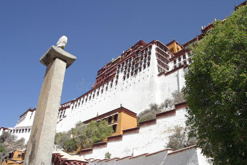 Potala宫殿 库存照片