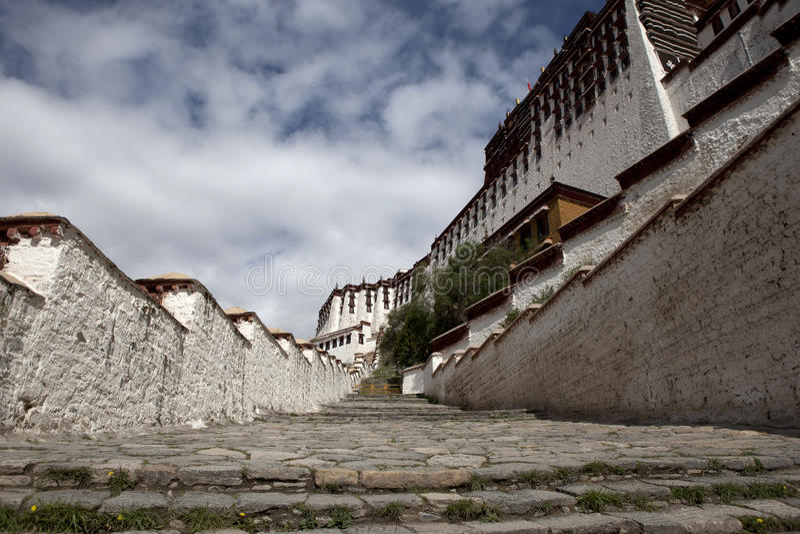 potala楼梯 免版税库存照片