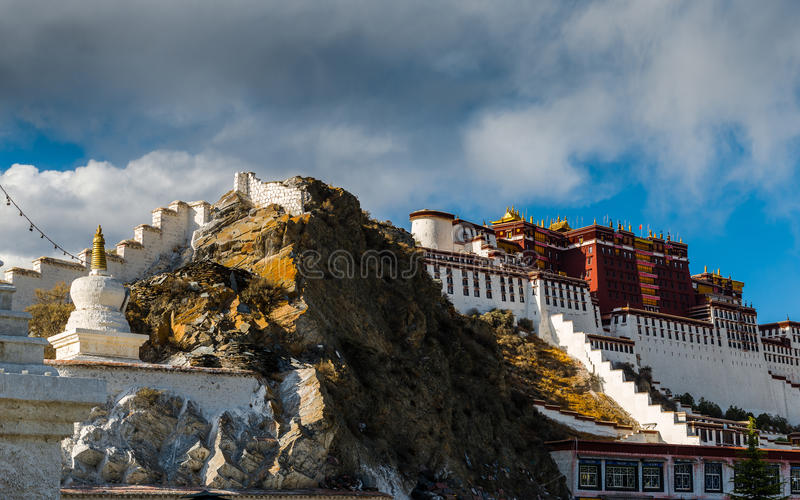 Potala Monastery in Tibet stock image