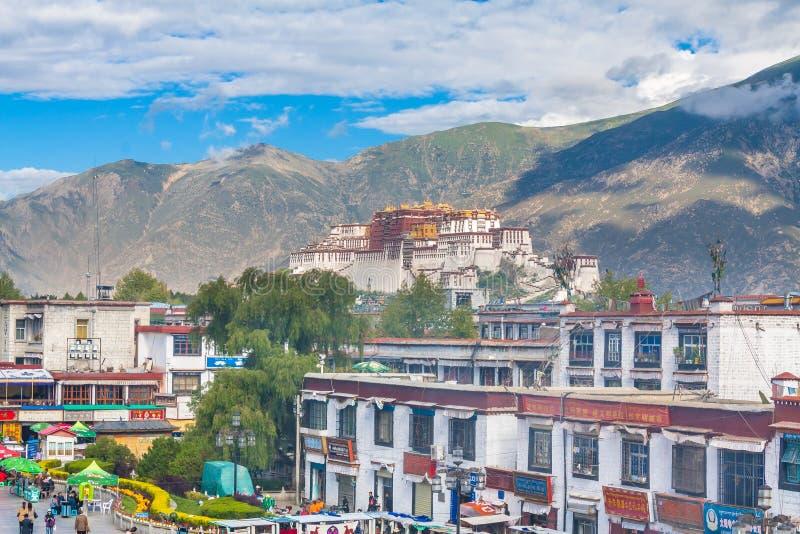 Potala pałac, Lhasa, Porcelanowy Tybet zdjęcia stock