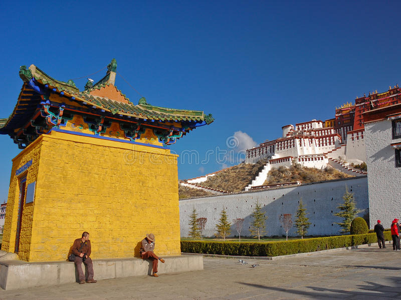 Potala pałac, Tybet obraz stock
