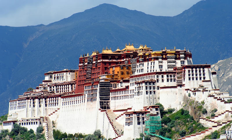 Download Potala Palace stock photo. Image of architecture, exterior - 10450228