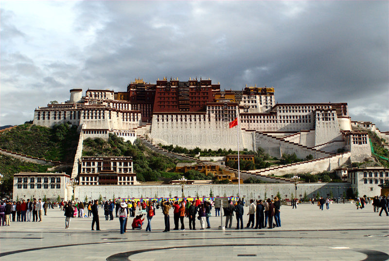 Download Potala Palace editorial stock image. Image of group, wall - 4712274