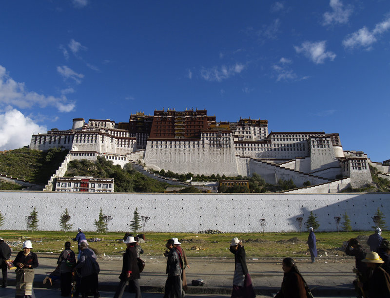 POTALA PALAST stockfotos