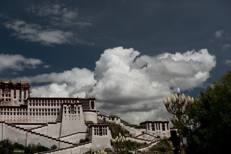 Potala Palast Dalai- Lamaplatz Lhasa, Tibet stockfotografie