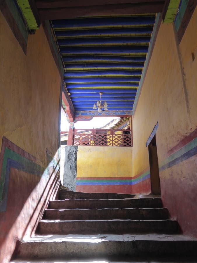 Potala-Palast innerhalb Lhasa Tibets lizenzfreie stockbilder