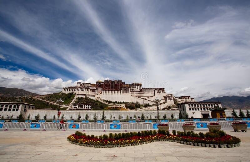 Potala Palast. Tibet stockfotos