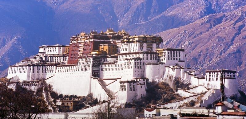 Potala slott Tibet arkivbilder