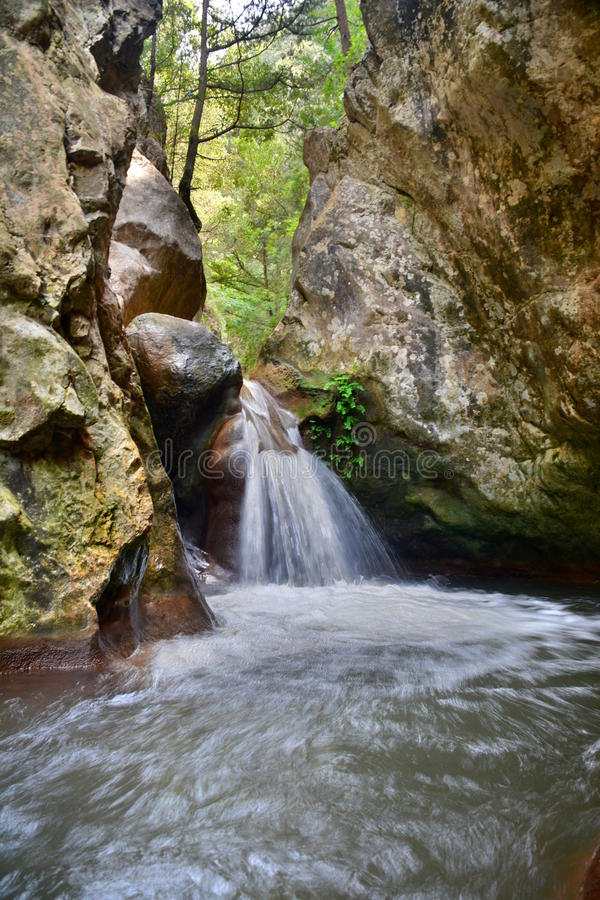 Potami falls. Samos island. Greece royalty free stock photos