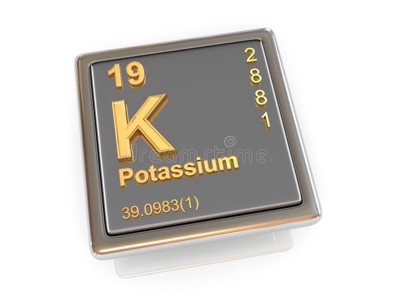Potas. Chemiczny element. ilustracji
