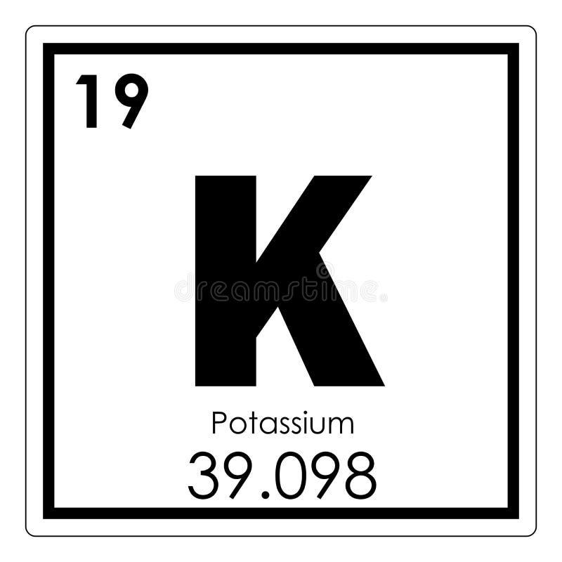 Potassium chemical element stock illustration illustration of geek potassium chemical element periodic table science symbol urtaz Choice Image