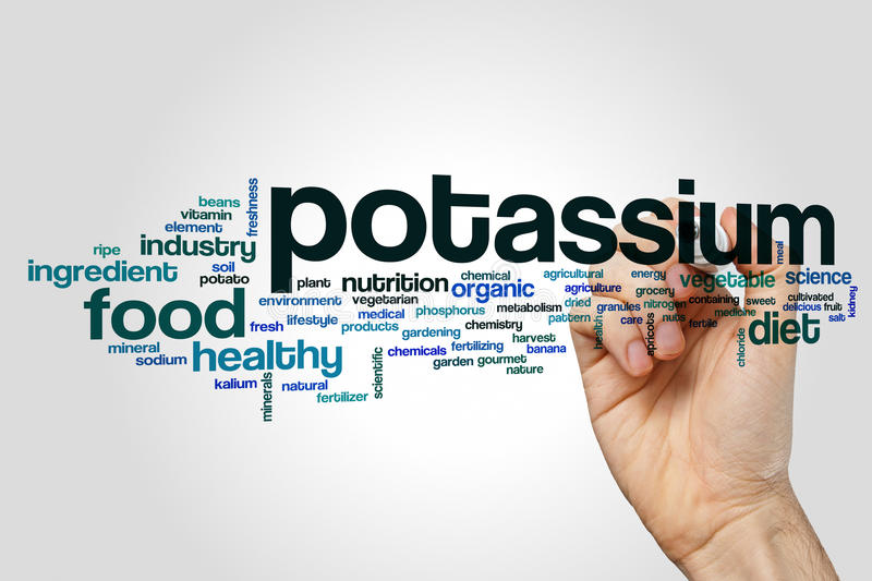 Potassium word cloud royalty free stock photo