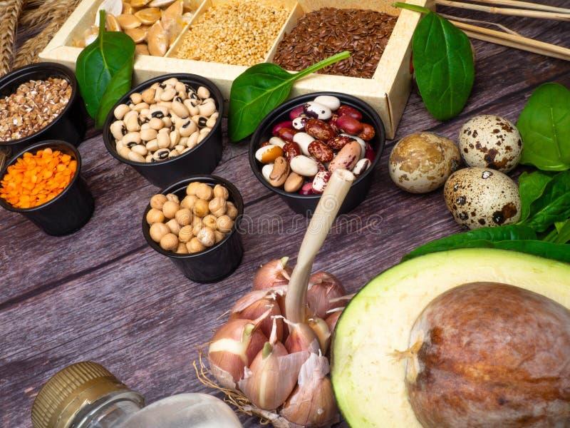 Potassium and Zinc Food Sources stock image