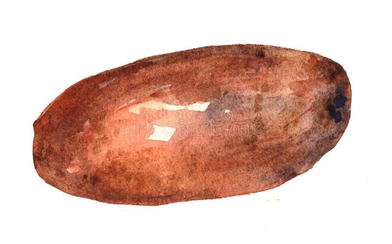 Potatis Räcka utdragen vattenfärgmålning på vit bakgrund, illustration vektor illustrationer
