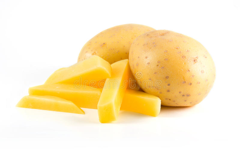 Potatisar med franska småfiskar arkivfoton