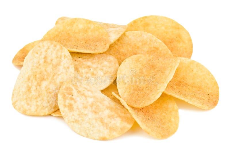 Potatisen gå i flisor royaltyfri bild