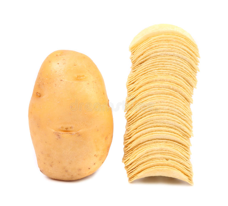 Free Potato And Stack Of Chips. Stock Photography - 34417722