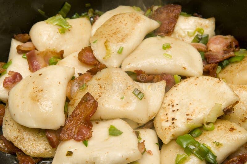 Potato, Bacon & Green Onions stock image