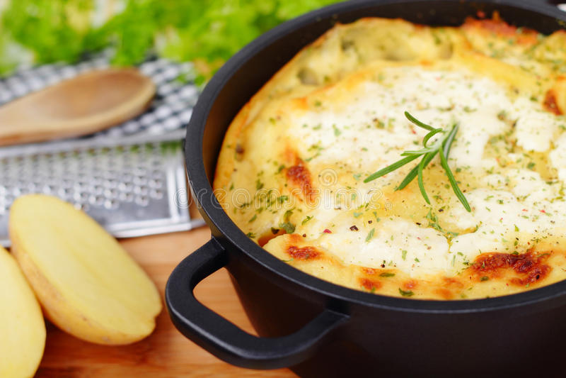 Potato bake stock photo