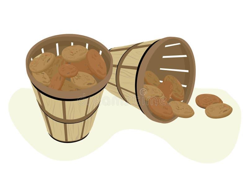 Potato Baskets royalty free illustration