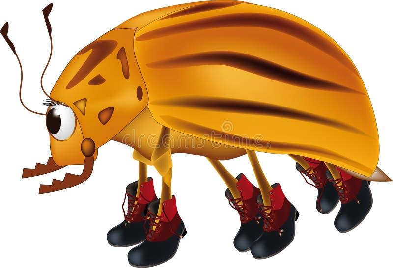 Potato bug vector illustration